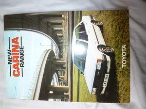1982 Toyota Carina Classic Eighties Brochure