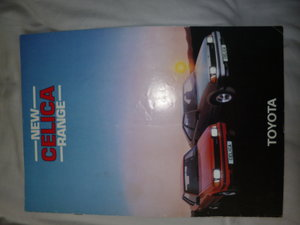 1983 Toyota Celica Classic Eighties Brochure For Sale