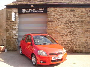2003 03 TOYOTA YARIS 1.5 VVTI T SPORT 3DR. 47072 MILES. A/C. For Sale