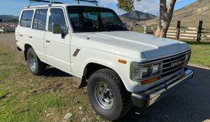 1988 Toyota Land Cruiser SUV 4WD 4x4 Ivory driver $21k