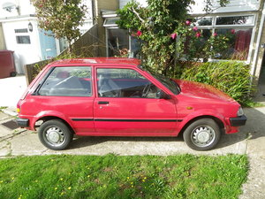 1985 Toyota Starlet dx 1 ltr in red