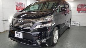 Toyota vellfire like alphard 2.4 black petrol auto