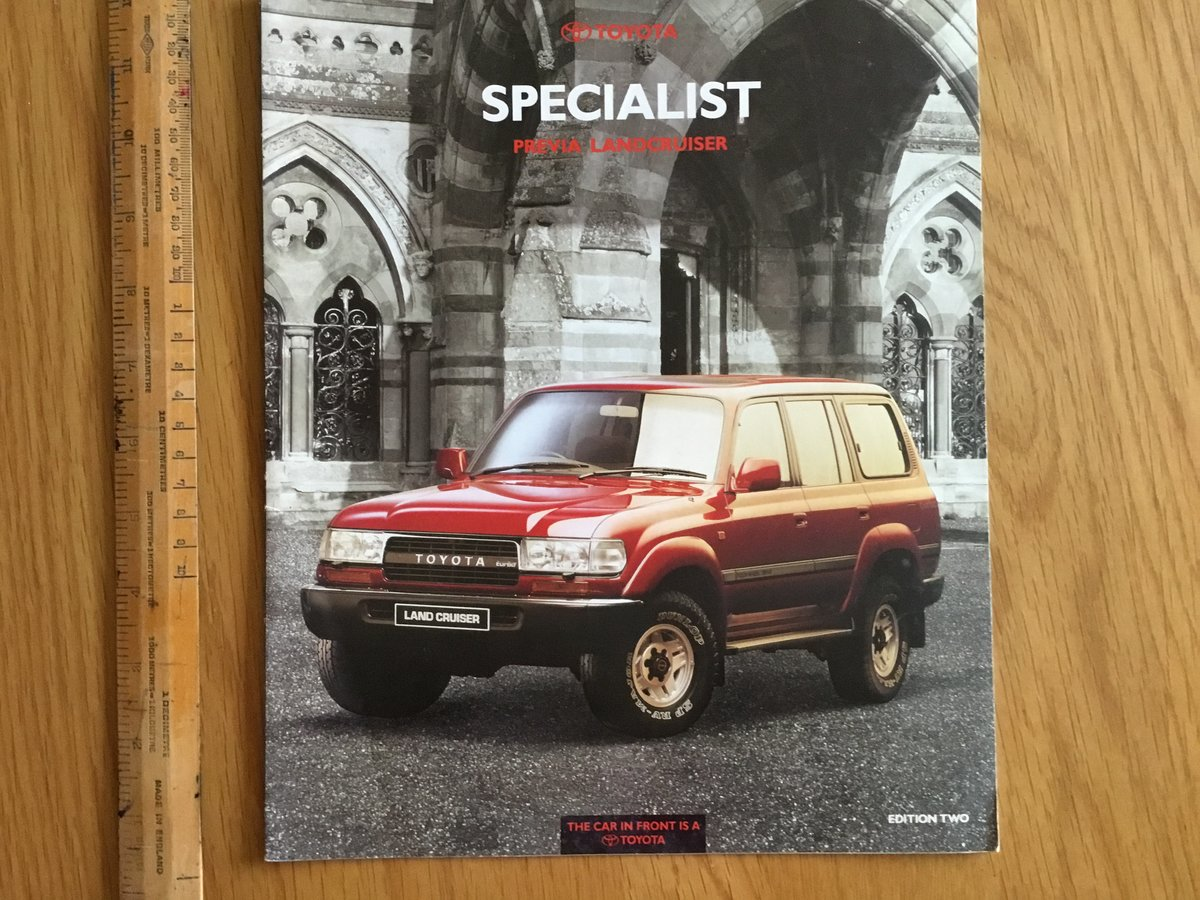 1991 Toyota landcruiser and Previa brochure For Sale (picture 1 of 1)