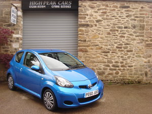 Picture of 2010 60 TOYOTA AYGO 1.0 VVTI BLUE 3DR. 24924 MILES. £20 RFL. For Sale