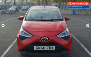 2018 Toyota Aygo X-Play VVT-I 26,122 miles for auction 25th