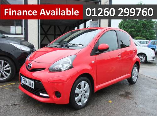 2014 TOYOTA AYGO 1.0 VVT-I MOVE WITH STYLE 5DR Manual SOLD (picture 1 of 6)