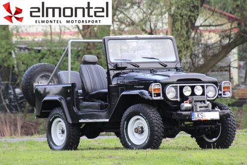 Toyota Land Cruiser BJ40 3,0D 1977 black cabrio For Sale (picture 1 of 6)