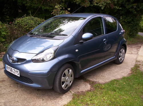 2008 58 REG TOYOTA AYGO 5 DOOR SPECIAL EDITION BLUE SOLD (picture 1 of 6)