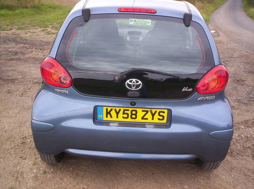 2008 58 REG TOYOTA AYGO 5 DOOR SPECIAL EDITION BLUE SOLD (picture 4 of 6)