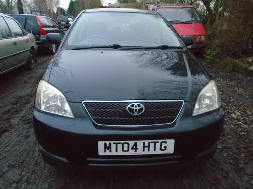 2004 04 TOYOTA COROLLA 1600cc 5 DOOR HACH IN BLACK 95,000 MILES  For Sale (picture 1 of 6)