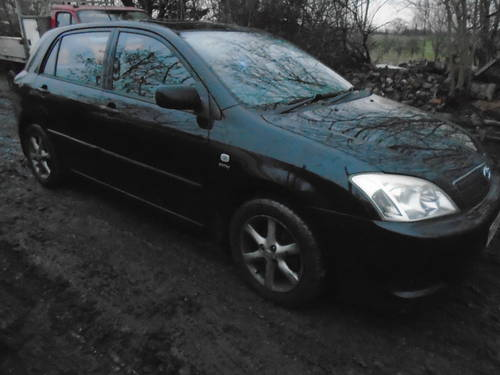 2004 04 TOYOTA COROLLA 1600cc 5 DOOR HACH IN BLACK 95,000 MILES  For Sale (picture 3 of 6)