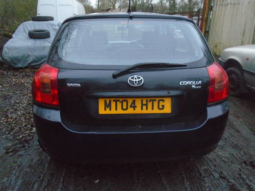 2004 04 TOYOTA COROLLA 1600cc 5 DOOR HACH IN BLACK 95,000 MILES  For Sale (picture 4 of 6)