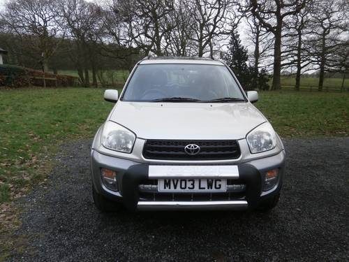 2003 TOYOTA RAV4 2.0 VX 5DR GOLD/SILVER F.S.H P/X BARGAIN!! SOLD (picture 3 of 6)