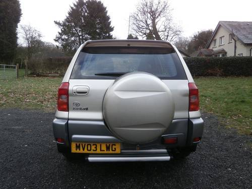 2003 TOYOTA RAV4 2.0 VX 5DR GOLD/SILVER F.S.H P/X BARGAIN!! SOLD (picture 4 of 6)