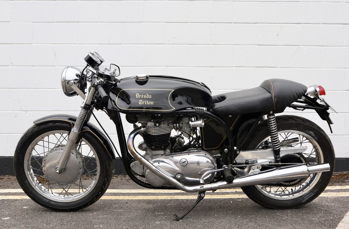 1953 Dresda Triton - Morgo 750cc - Wide Line Frame - T110  For Sale (picture 2 of 6)