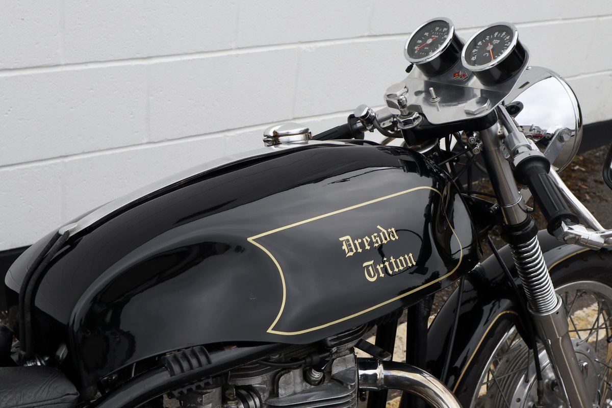 1953 Dresda Triton - Morgo 750cc - Wide Line Frame - T110  For Sale (picture 6 of 6)