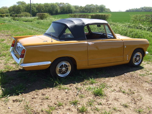 1971 VITESSE CONVERTIBLE MK2 2L 1 OWNER 62K OVERDRIVE SOLD (picture 4 of 6)