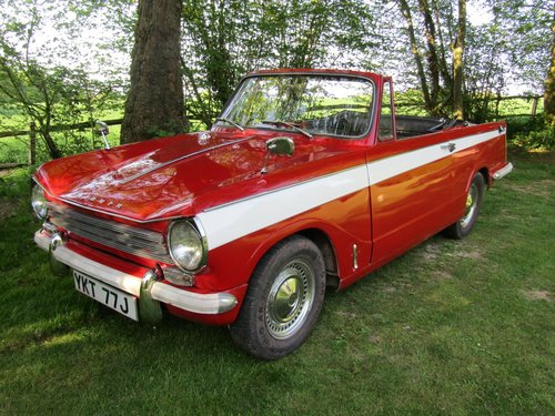 1971 Triumph Herald 13/60 convertible SOLD (picture 1 of 6)