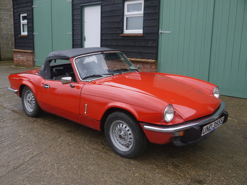 1977 TRIUMPH SPITFIRE 1500 - STRAIGHTFORWARD PROJECT, FULL MOT. SOLD (picture 1 of 6)