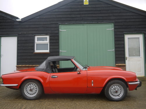1977 TRIUMPH SPITFIRE 1500 - STRAIGHTFORWARD PROJECT, FULL MOT. SOLD (picture 2 of 6)