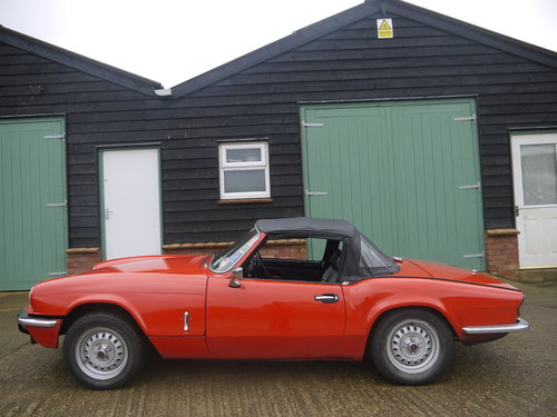 1977 TRIUMPH SPITFIRE 1500 - STRAIGHTFORWARD PROJECT, FULL MOT. SOLD (picture 3 of 6)