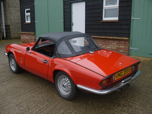 1977 TRIUMPH SPITFIRE 1500 - STRAIGHTFORWARD PROJECT, FULL MOT. SOLD (picture 4 of 6)
