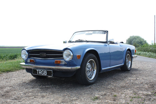 TR6 1973 VERY EARLY CR SERIES CAR. SOLD (picture 1 of 6)
