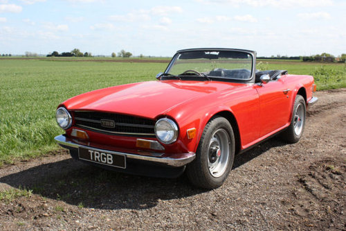 TR6 1974 ORIGINAL UK CAR WITH OVERDRIVE SOLD (picture 1 of 1)