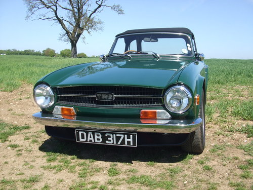 TR6 1970 CP 150 BHP ORIGINAL UK RHD 80K MILES OVERDRIVE SOLD (picture 1 of 6)
