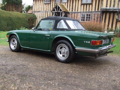TR6 1970 CP 150 BHP ORIGINAL UK RHD 80K MILES OVERDRIVE SOLD (picture 4 of 6)