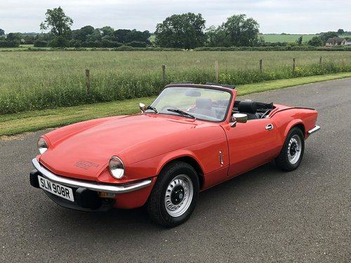 1977 TRIUMPH SPITFIRE 1500  SOLD (picture 1 of 6)