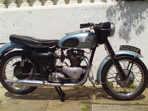 1956 TRIUMPH T100 PRE UNIT SOLD (picture 1 of 6)