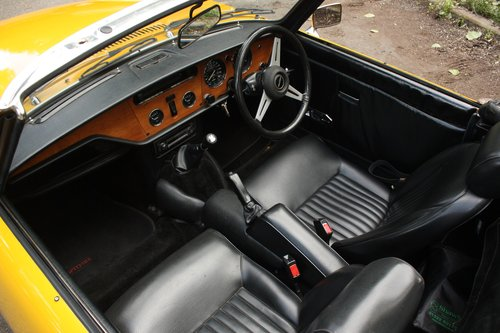 1976 Triumph Spitfire 1500 - Inca Yellow - Tax/MOT exempt! SOLD (picture 3 of 6)