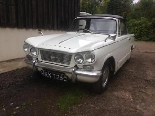 1965 Triumph Vitesse 6 Genuine Factory Convertible - Lovely Car For Sale (picture 1 of 3)