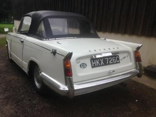 1965 Triumph Vitesse 6 Genuine Factory Convertible - Lovely Car For Sale (picture 2 of 3)