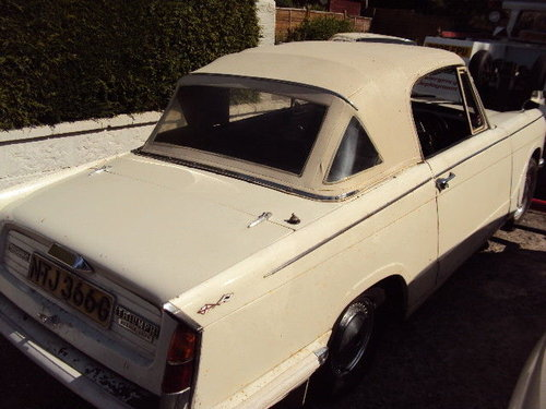 1968 herald by triumph dry stored 32 years SOLD (picture 4 of 6)