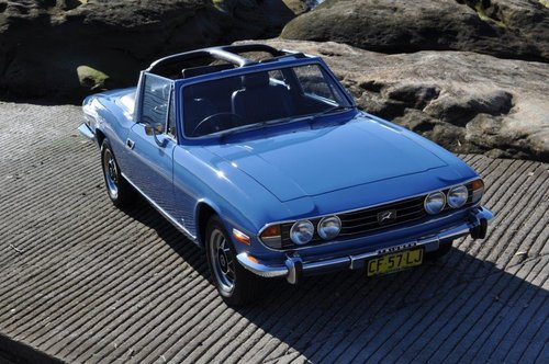 1974 Triumph Stag Man O/D French Blue Fully Restored SOLD (picture 2 of 6)