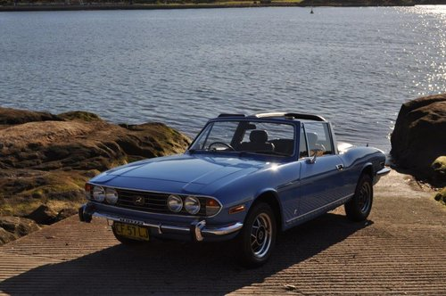 1974 Triumph Stag Man O/D French Blue Fully Restored SOLD (picture 4 of 6)