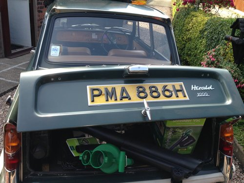 1970 Triumph Herald in ORIGINAL CONDITION SOLD (picture 2 of 6)