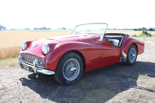 1958 TRIUMPH TR3A FOR SALE SOLD (picture 1 of 6)