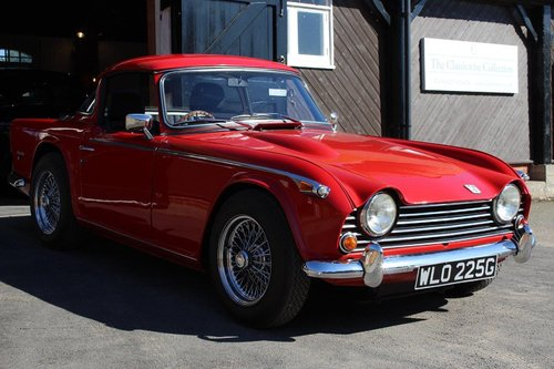 1968/G TRIUMPH TR5 PI WITH SURREY TOP  SOLD (picture 1 of 6)