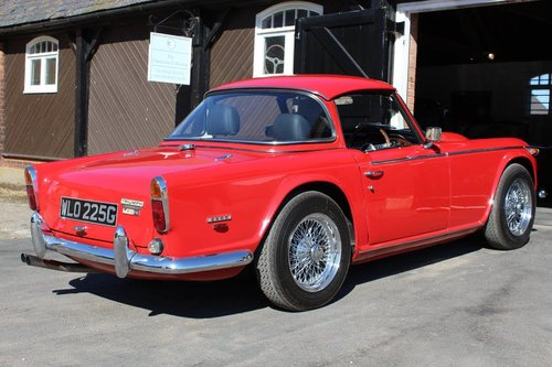 1968/G TRIUMPH TR5 PI WITH SURREY TOP  SOLD (picture 3 of 6)