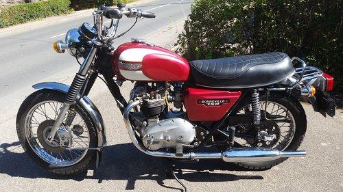 1978 Triumph T140E 750 Export Bonneville For Sale (picture 2 of 6)