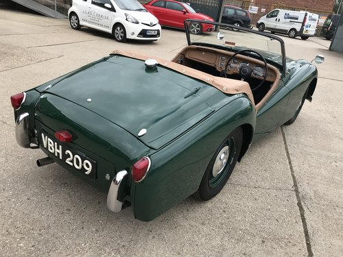 1955 Triumph TR2 WITH OVER DRIVE - SHORT DOOR For Sale (picture 6 of 6)