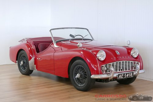 Triumph TR3A 1960 with overdrive in a nice used condition For Sale (picture 1 of 6)