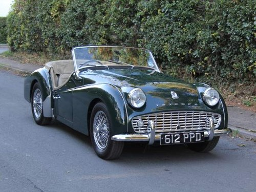 1960 Triumph Tr3a Uk Car Original Numbers And Colour 1st Class
