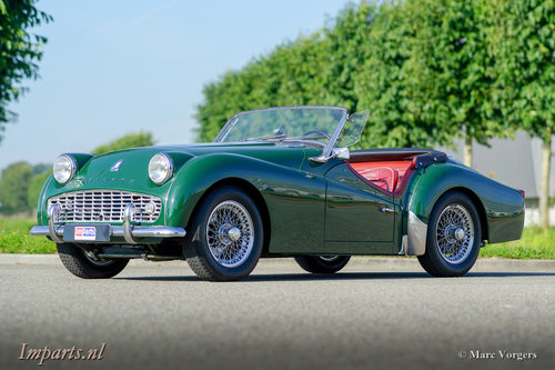 1959 Very good Triumph TR3A with Overdrive For Sale (picture 1 of 6)