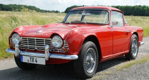1962 CONCOURS WINNER - EARLY TRIUMPH TR4 SURREY TOP SOLD (picture 1 of 6)