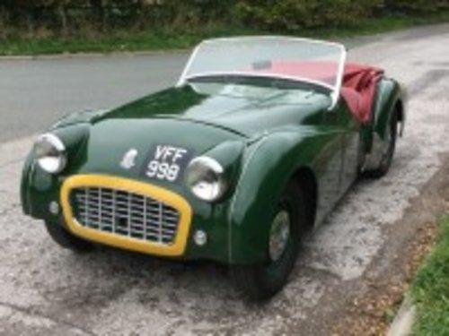 1956 Triumph TR3 Green  For Sale (picture 1 of 6)