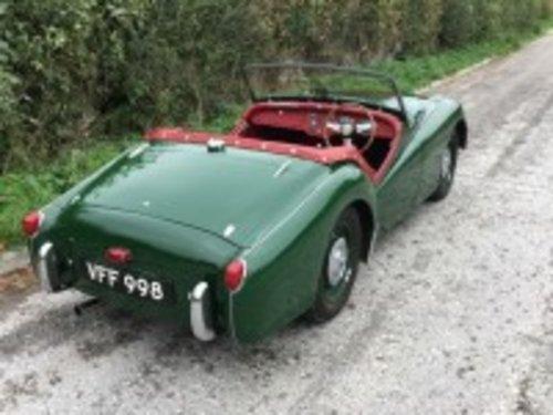 1956 Triumph TR3 Green  For Sale (picture 5 of 6)